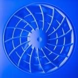 Wentylaci fan w błękita świetle i grille Zdjęcia Royalty Free