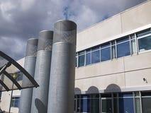 Wentylacj drymby przemysłowy budynek Zdjęcia Stock