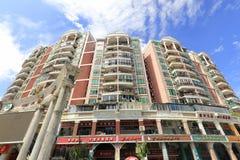 Wenxinyuan-Wohngebäude, luftgetrockneter Ziegelstein rgb Stockfotos
