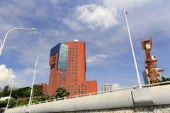 Wenyuanlu-Straßenansicht, luftgetrockneter Ziegelstein rgb Stockbild