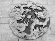 Wenzhou Dragon Sculpture stockfoto