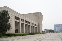 Wenzhou museum and Century square Royalty Free Stock Image