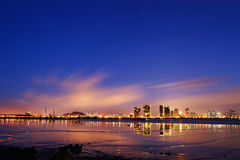 Wenzhou Oujiang Night Stock Photos