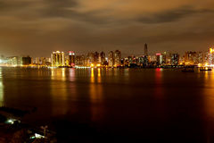 Wenzhou Riverside Night Royalty Free Stock Photo