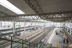 Wenzhou south railway station platform Stock Photography