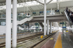 Wenzhou south railway station platform Royalty Free Stock Photos