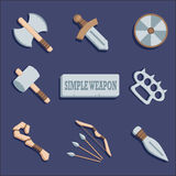 Wepon icons set. Royalty Free Stock Photography