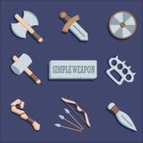 Wepon symbolsuppsättning Royaltyfri Fotografi