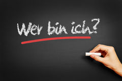 Wer bin ich? (Who am I?) Stock Images