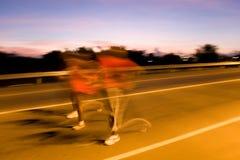 Wer lässt ein Marathon laufen? Lizenzfreies Stockfoto