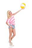 Wer möchten Wasserball mit mir spielen? Stockfoto