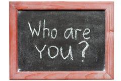 Wer Sie sind Stockbild