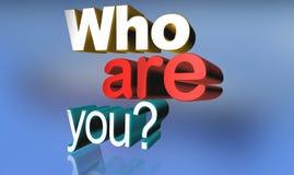Wer Sie sind lizenzfreie abbildung