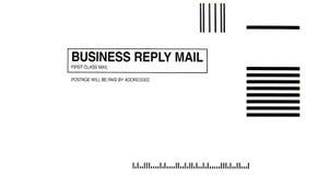 Werbeantwort-Umschlag Lizenzfreies Stockbild