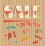 Werbeaufkleber mit Textverkauf, Spitze, Angebot, am besten Stockfotografie