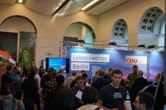 Werbegebiet der deutschen politischen Partei CDU lizenzfreies stockfoto