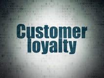 Werbekonzeption: Kunden-Loyalität auf Digital-Daten-Papierhintergrund stock abbildung