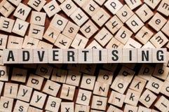 Werbung des Wortkonzeptes lizenzfreie stockbilder