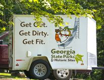Werbung für Georgia State Parks stockfotos