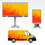 Werbung im Freien der Schablone oder Unternehmensidentitä5 Stockfotos