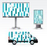 Werbung im Freien der Schablone oder Unternehmensidentitä5 Lizenzfreie Stockfotos