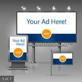Werbung- im Freiendesign Stockfotos