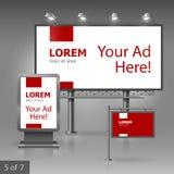 Werbung- im Freiendesign Lizenzfreies Stockbild