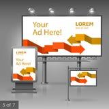 Werbung- im Freiendesign Lizenzfreie Stockbilder
