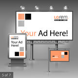 Werbung- im Freiendesign Stockfoto