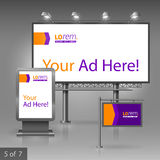 Werbung- im Freiendesign Stockbild