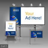 Werbung- im Freiendesign Lizenzfreies Stockfoto