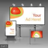 Werbung- im Freiendesign Lizenzfreie Stockfotos