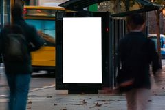 Werbung- im Freienschutz lizenzfreies stockbild