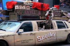 Werbung in New York City lizenzfreies stockfoto