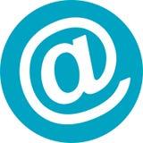 Werbung an unterzeichnen herein Kreis-Ikone Vektor Abbildung