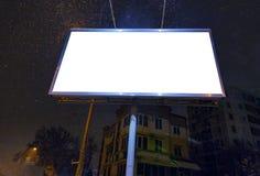 Werbungsanschlagtafel und -fahne am Stadtstraßenmodell Lizenzfreie Stockfotografie