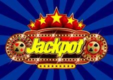 Werbungsschild Kasino - Jackpot im Vektor vektor abbildung