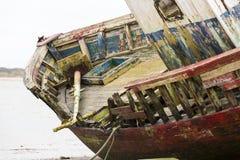 Werck木头小船 免版税图库摄影