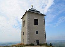 In 1632 werd gebouwd bovenop Heilige heuvel dichtbij de stad van Mikulov B Royalty-vrije Stock Afbeelding