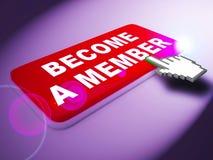 Werden ein Mitglied, das Durchschnitte herauf Wiedergabe 3d verbinden vektor abbildung