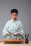 Werden fertig zur Teezeremonie Lizenzfreie Stockbilder
