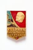 Werden Sie die Schilderung des Kopfes von Lenin und von Aufschrift deutlich Lizenzfreies Stockfoto