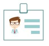 Werden Sie Identifikations-Ikonengeschäftsidentifikations-Zeichenausweispersonennamen deutlich lizenzfreie stockfotos