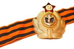 Werden Sie mit St- Georgebandkriegsmarine der UDSSR deutlich Stockbild