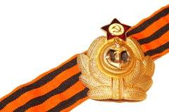 Werden Sie mit St- Georgebandkriegsmarine der UDSSR deutlich Lizenzfreie Stockfotos