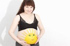 Werdende Mutter stockfoto