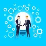 Werdene Partner, vereinigt durch die Idee Auch im corel abgehobenen Betrag lizenzfreie abbildung