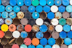 Pattern of old colorful iron tank royalty free stock images