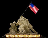 We were not founded on Socialism. American fought to not be founder on Socialism stock photo