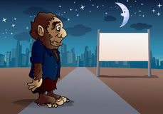 Were wolf in town royalty free illustration